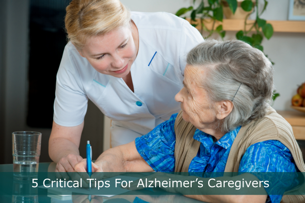 5 Critical Tips For Alzheimer's Caregivers